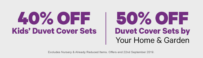 40% off Kids' Duvet Cover Sets | 50% off Duvet Cover Sets by Your Home and Garden