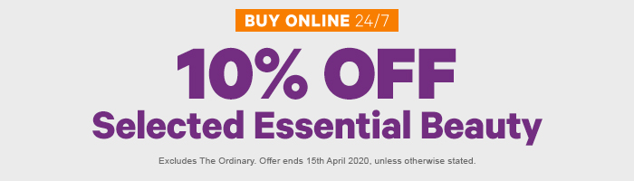 10% OFF Selected Essential Beauty