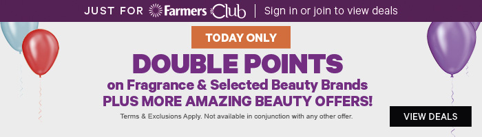 Double Points on Fragrance & Selected Beauty Brands