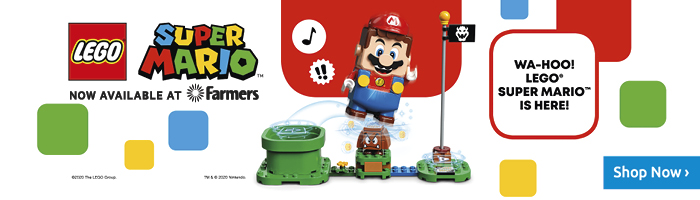 LEGO® Super Mario™ is now available online and in-store at Farmers!