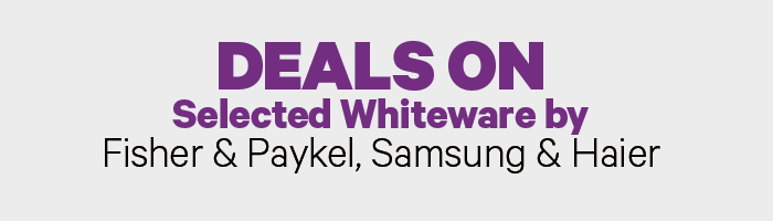 Deals on Selected Whiteware by Fisher & Paykel, Samsung & Haier