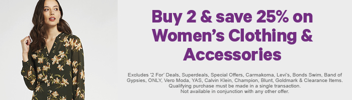Buy 2 & save 25% on Women's Clothing & Accessories