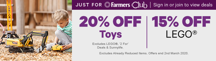 20% off Toys & 15% off LEGO