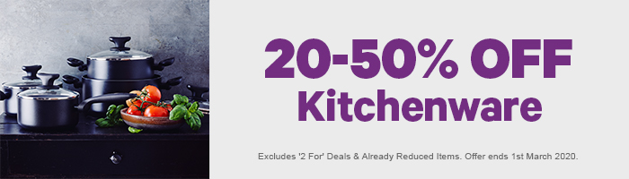 20-50% off Kitchenware