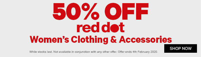 50% Off Red Dot Women's Clothing & Accessories