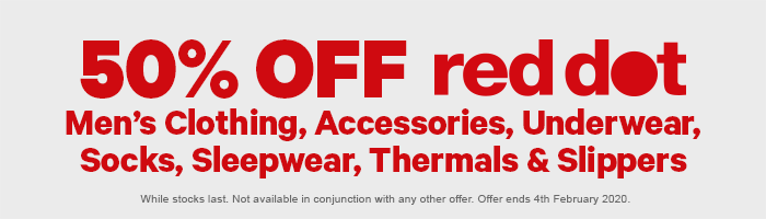 50% off Red Dot Men's Clothing & Accessories