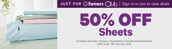 50% off Sheets