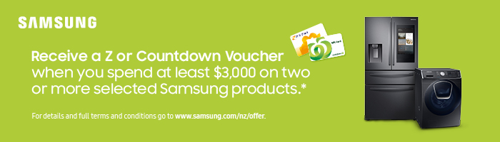 Receive a Z or Countdown voucher when you spend at least $3,000 on two or more selected Samsung products.