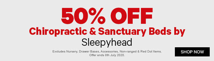 50% off Chiropractic & Sanctuary Beds by Sleepyhead