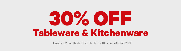 30% off Tableware & Kitchenware