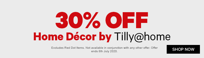 30% off Home Decor by Tilly@home