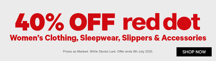 40% off Red Dot Women's Clothing, Sleepwear, Slippers & Accessories