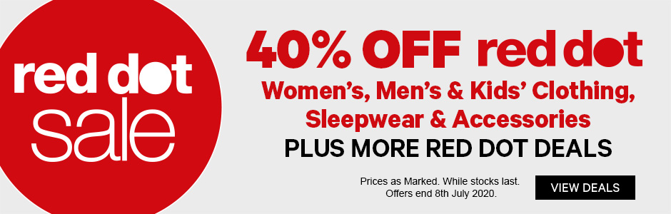 40% off Red Dot Women's, Men's & Kids' Clothing, Sleepwear & Accessories - Plus More Red Dot Deals