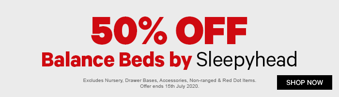 50% off Balance Beds by Sleepyhead