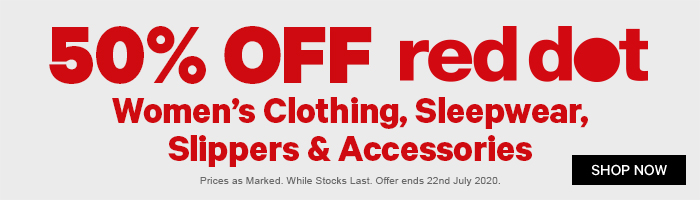 50% off Red Dot Women's Clothing, Sleepwear, Slippers & Accessories