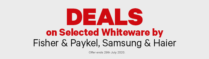 Deals on Whiteware by Fisher & Paykel, Samsung & Haier