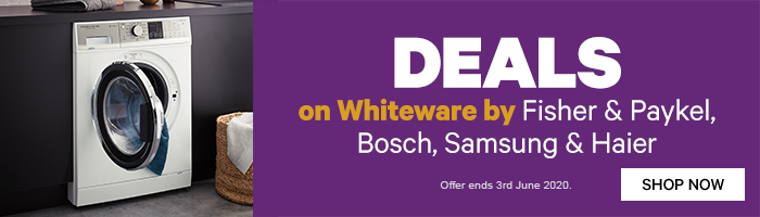 Deals on Whiteware by Fisher & Paykel, Bosch, Samsung & Haier