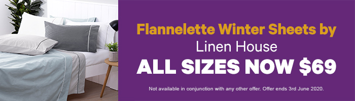 Flannelette Winter Sheets by Linen House All Sizes Now $69