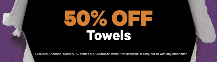 50% off Towels