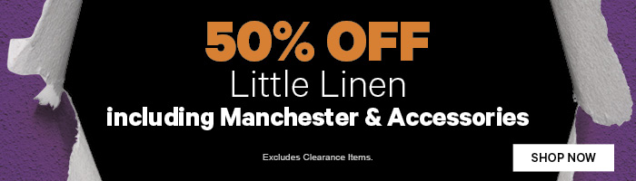 50% off Baby Manchester & Accessories by Little Linen