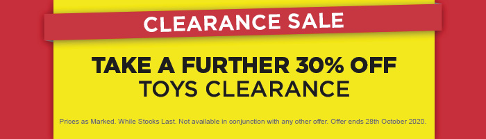 Take a Further 30% off Toys Clearance