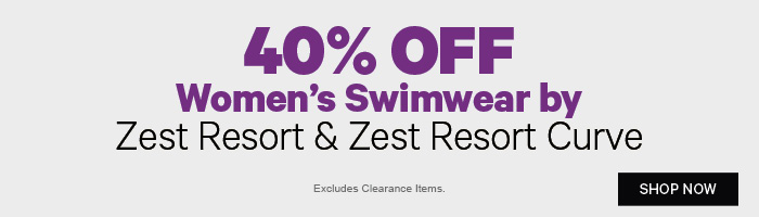 40% off Women's Swimwear by Zest Resort & Zest Resort Curve