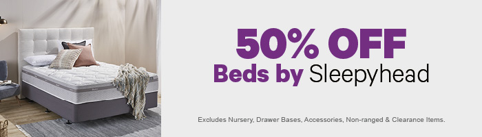 50% off Beds by Sleepyhead