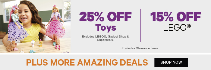25% off Toys | 15% off LEGO Plus More Amazing Deals