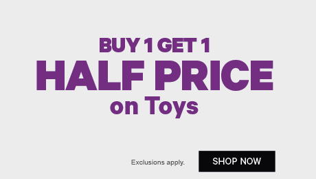 Buy 1 get 1 Half Price on Toys