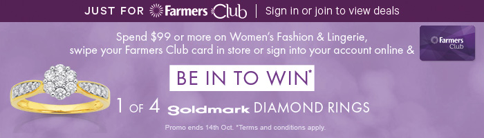 Be in to win 1 of 4 Goldmark Diamond Rings*