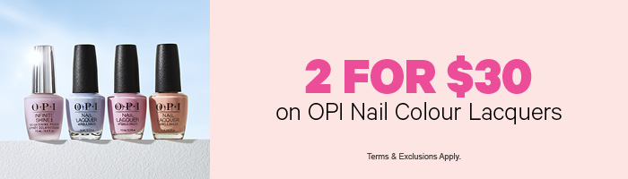 2 for $30 on OPI Nail Colour Lacquers