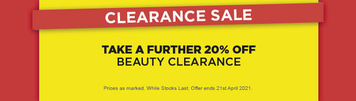 Take a Further 20% off Beauty Clearance