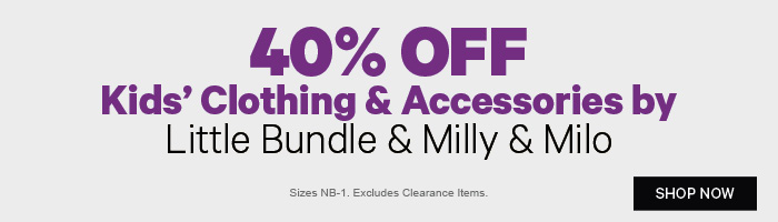 40% off Kids' Clothing & Accessories by Little Bundle & Milly & Milo