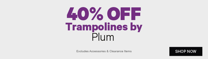 40% off Trampolines by Plum