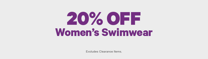 20% off Women's Swimwear