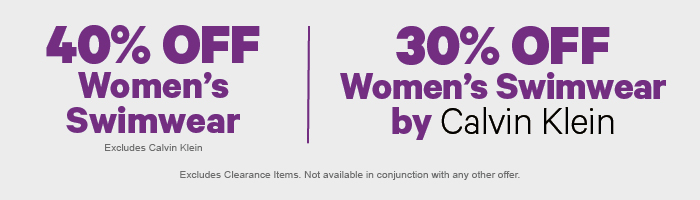 40% off Women's Swimwear | 30% off Women's Swimwear by Calvin Klein