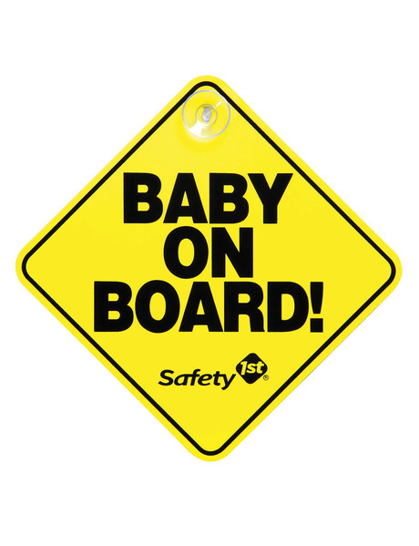 NEW Baby King 2pk Baby Car Safety Signs w// suction cups