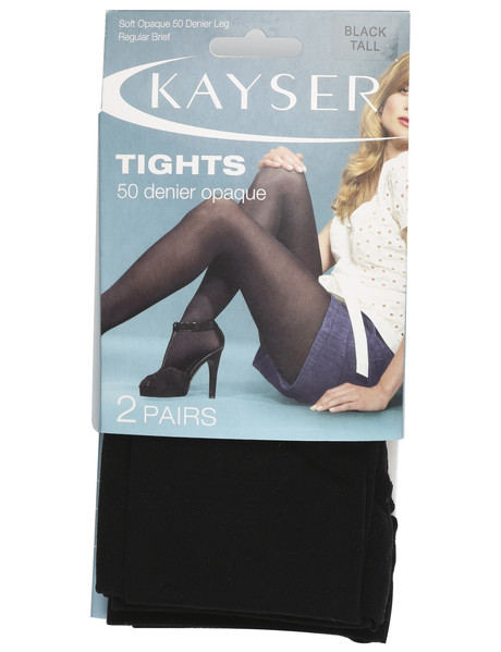 Kayser Opaque Tights, 50 Denier, 2-Pack, Black product photo