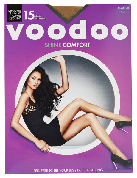Voodoo Shine Comfort Sheer Brief Pantyhose, 15 Denier product photo