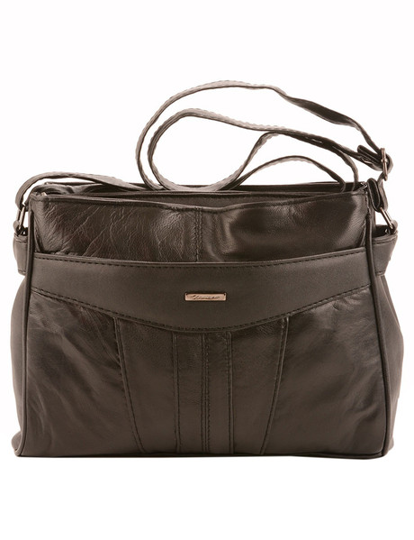 Milano East West Front Pocket Small Cross Body Bag Black Product Photo