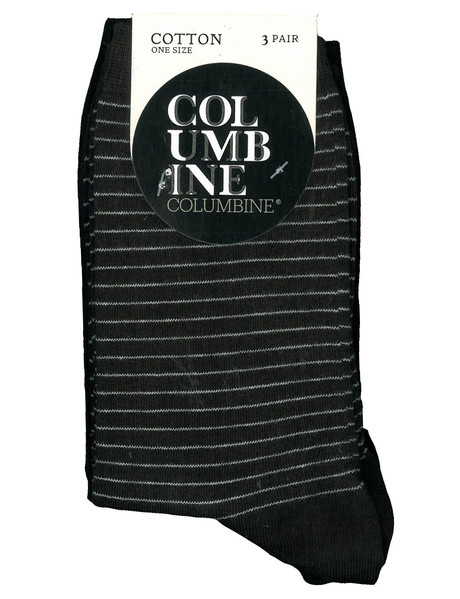 Columbine Classic Spot Stripe, Crew Sock, 3-Pack product photo