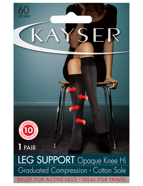 Kayser Leg Support Opaque Knee-High, 60 Denier product photo