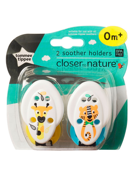 Tommee Tippee Soother Holder, 2pk, Assorted product photo