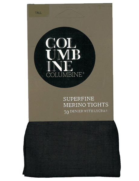 Columbine Superfine Merino Wool Tight, Black product photo