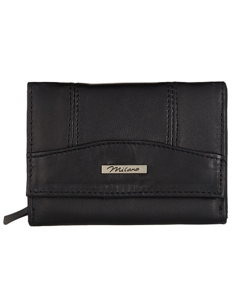 Milano Small Trifold Wallet, Black product photo
