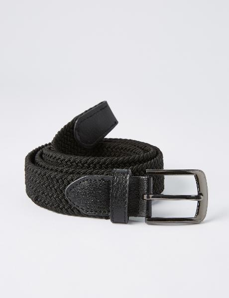 Chisel Braided Stretch Belt, Black product photo