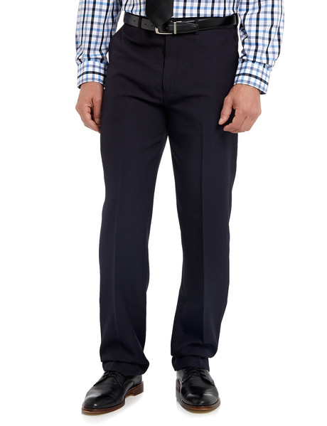 Farah Polyester Flat Front Pant, Navy product photo