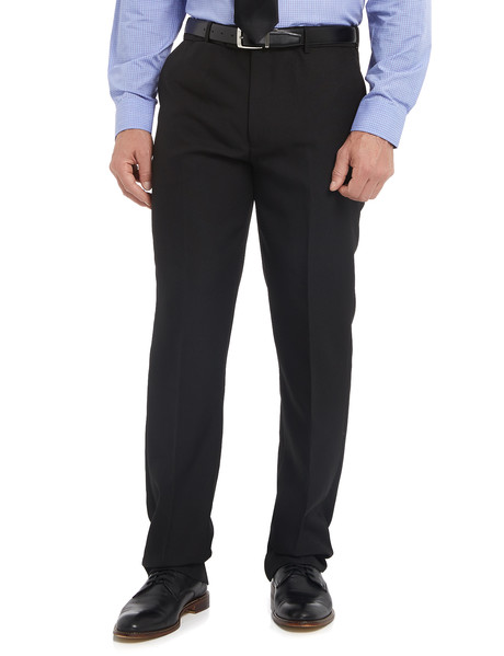 Farah Polyester Flat Front Pant, Black product photo