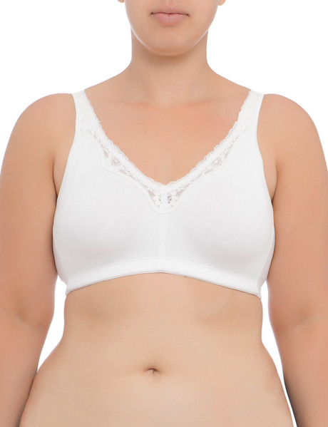 Lyric Curve Cotton Soft-Cup Bra White, C-DD product photo