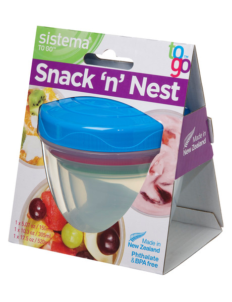 Sistema To Go Snack n Nest, Set-of-3, Assorted Colours product photo